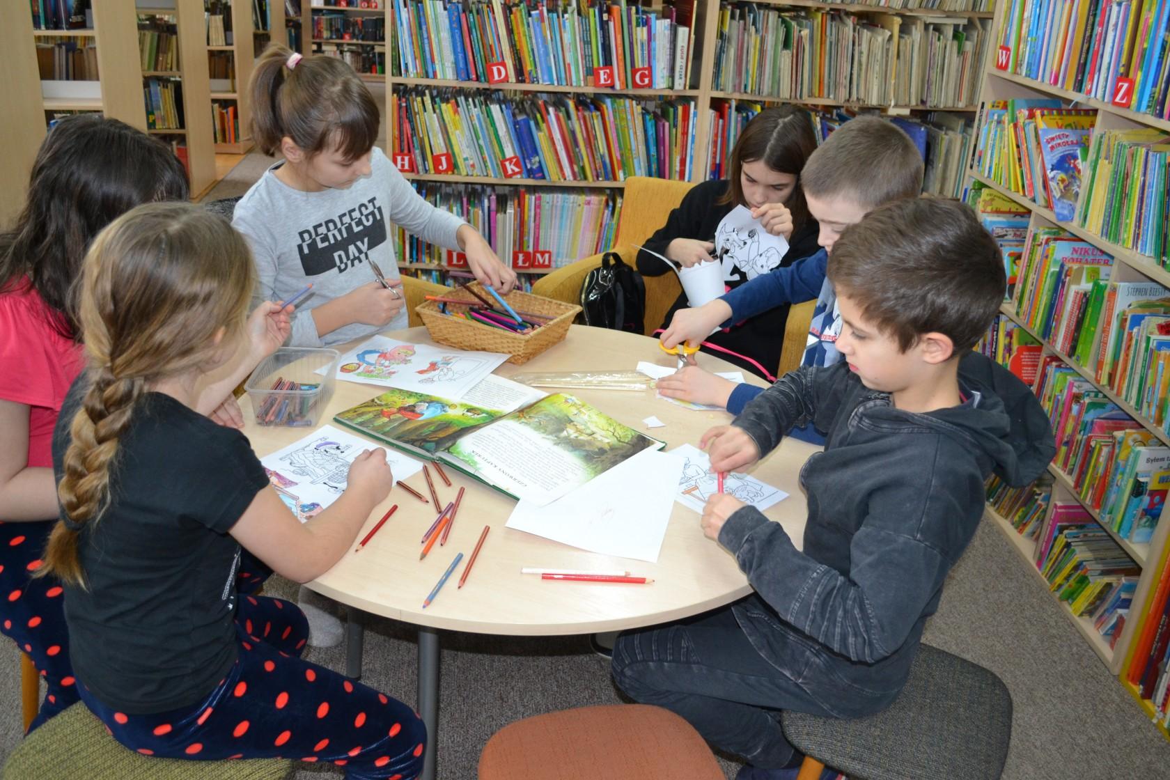 Relacja z ferii zimowych w bibliotece