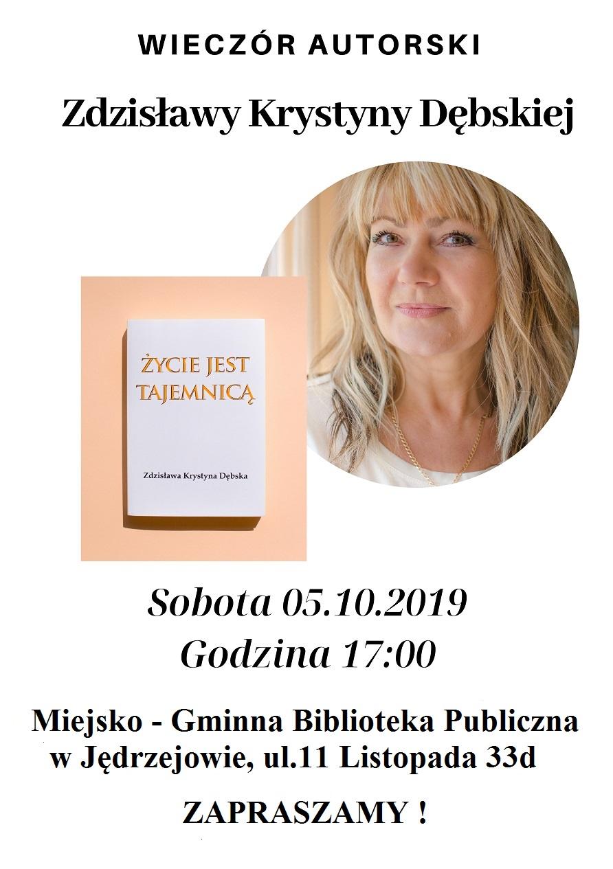 Wieczór autorski  Zdzisławy Krystyny Dębskiej