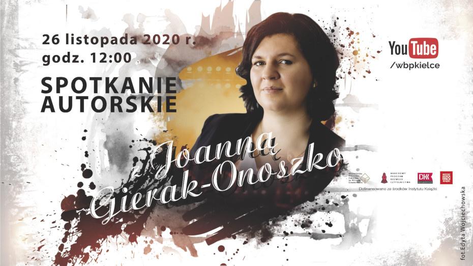 Spotkanie autorskie online z Joanną Gierak - Onoszko